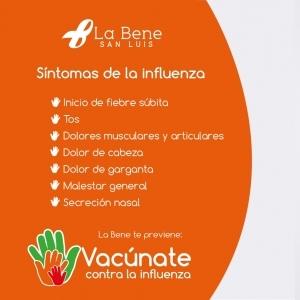 Etapa Naranja. Síntomas de la Influenza